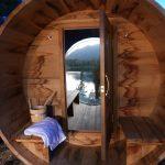Casa di l'onda sauna design extérieur avec vue sur lac